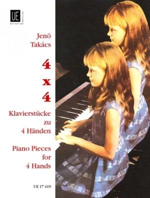 Takács, J: Takacs 4x4 Piano Pieces Pft 4h Op. 106