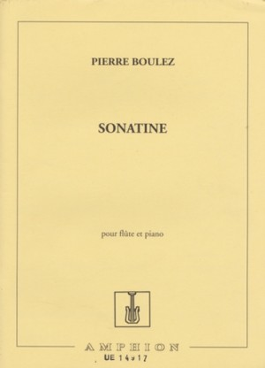 Boulez, P: Sonatine Pour Flute Et Piano