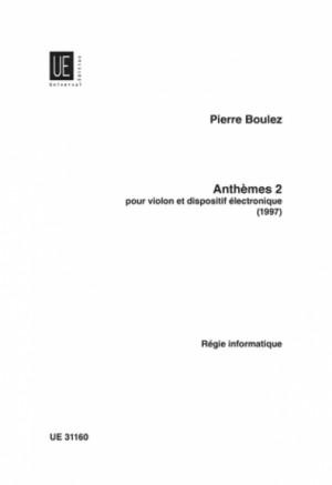 Boulez, P: Anthèmes 2