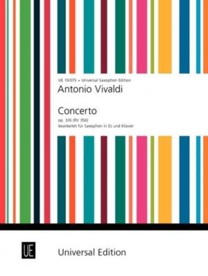 Vivaldi, A: Vivaldi Concerto Op3/6 Alto.sax Pft.red Op. 3/6 Rv 356