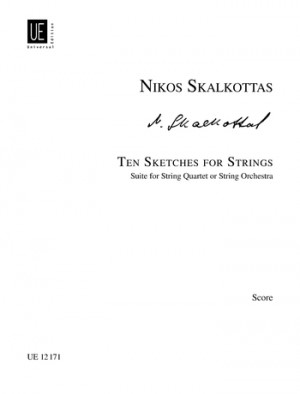 Skalkottas, N: Skalkottas Ten Sketches Str Score A/k 38
