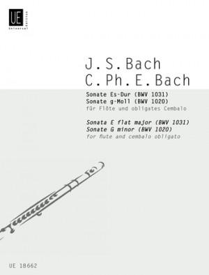 Bach Js/bach Cpe Two Sonatas Fl Cemb Bwv 1020, 1031