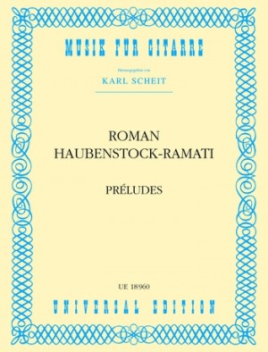 Haubenstock-Ramati, R: Haubenstock-ramati Preludes S.gtr