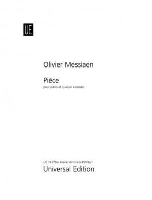 Messiaen, O: Piece Piano & Str.quartet Score