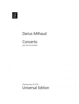 Milhaud, D: Milhaud Concerto Vla Pft Red Op. 108