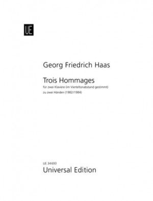 Haas, G F: Trois Hommages