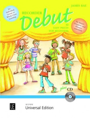 Rae, J: Recorder Debut with CD - Pupil's book with CD