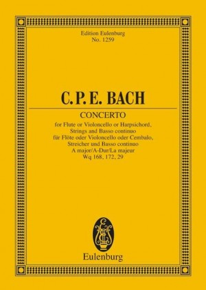 Bach, C P E: Concerto A major H 437-39, Wq 168, 172, 29 Product Image