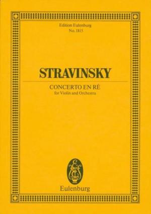 Stravinsky, I: Concerto en ré - Concerto in D