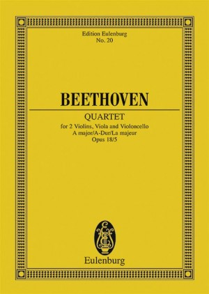 Beethoven, L v: String Quartet A major op. 18/5
