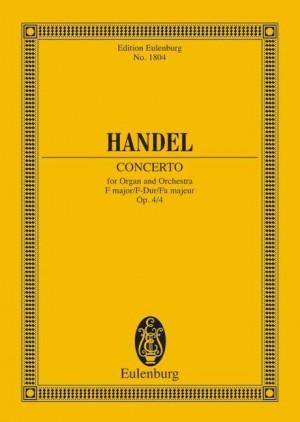 Handel, G F: Organ concerto No. 4 F major op. 4/4 HWV 292