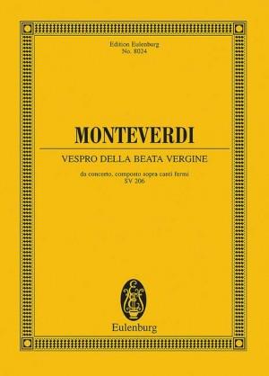 Monteverdi, C: Vespro della Beata Vergine SV 206  SV 206