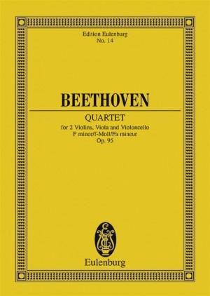 Beethoven, L v: String Quartet F minor op. 95