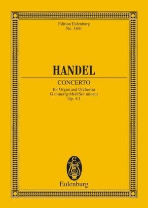 Handel, G F: Organ concerto No. 1 G minor op. 4/1 HWV 289
