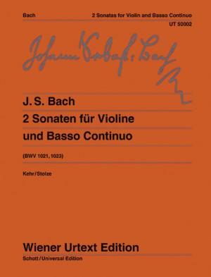 Bach, J S: Two Sonatas G Major/E Minor BWV 1021, 1023