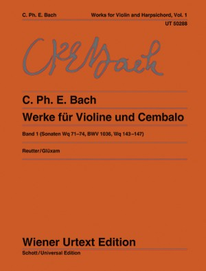 Bach, C P E: Works for violin and harpsichord Band 1