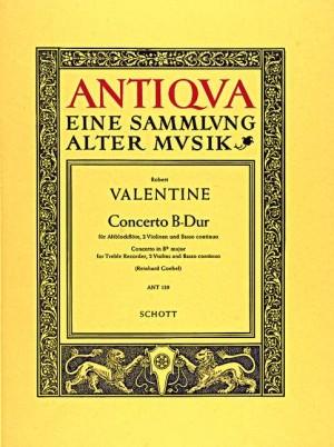 Valentine, R: Concerto Bb major