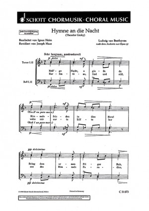 Beethoven, L v: Hymne an die Nacht