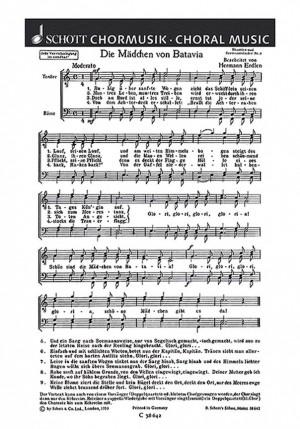 Erdlen, H: Drei Shanties und Seemannslieder