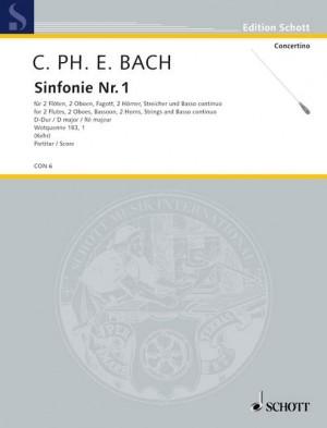 Bach, C P E: Symphony No. 1 Wq 183/1