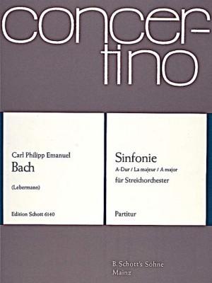Bach, C P E: Sinfonie A Major Wq 182/4