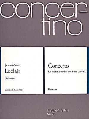 Leclair, J: Concerto Bb Major op. 10/1