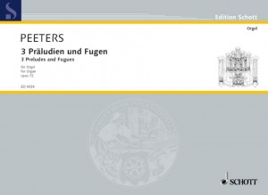 Peeters, F: Three Preludes and Fugues op. 72