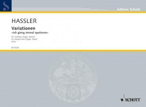 Hassler, H L: Variationen Ich gieng einmal spatieren