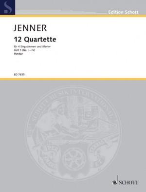 Jenner, C U G: Zwölf Quartette Heft 1