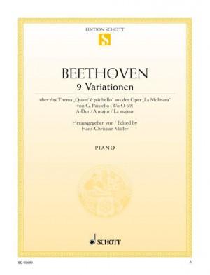 Beethoven, L v: Nine Variations A major WoO 69