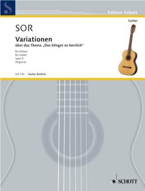 Sor, F: Variations op. 9