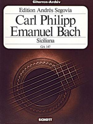 Bach, C P E: Siciliana D minor
