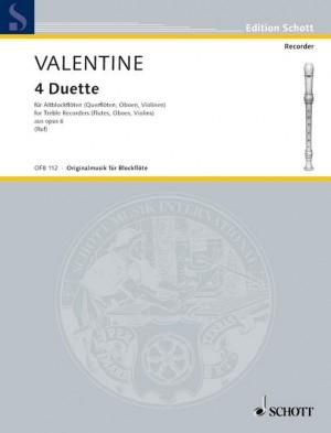 Valentine, R: 4 Duets op. 6/1-4