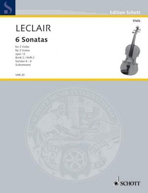 Leclair, J: Six Sonatas op. 12 Heft 2