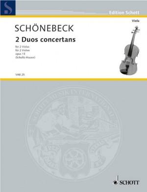 Schoenebeck, C S: 2 concertante duos op. 13 Product Image