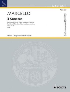 Marcello, B: 3 Sonatas op. 2 Vol. 1