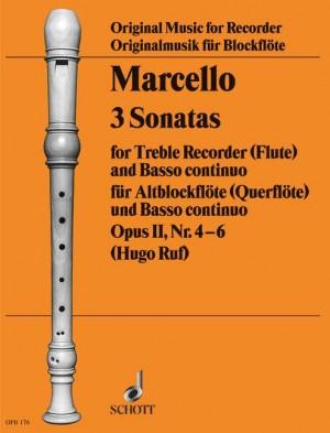 Marcello, B: 3 Sonatas op. 2 Vol. 2