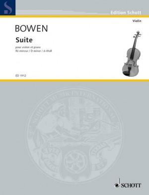 Bowen, Y: Suite in D Minor op. 28