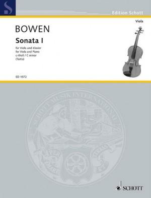 Bowen, Y: Sonata No. 1 C Minor op. 18