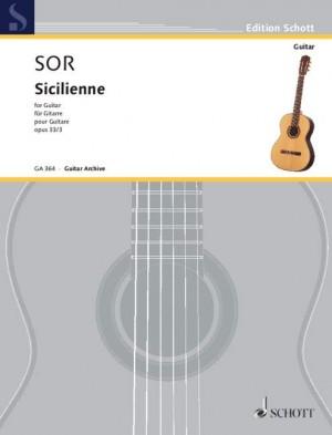 Sor, F: Sicilienne op. 33