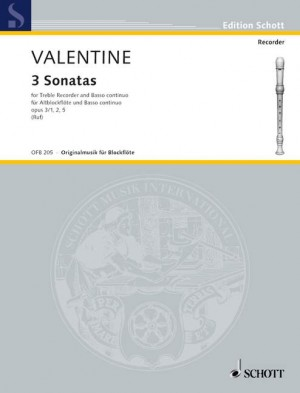 Valentine, R: 3 Sonatas op. 3