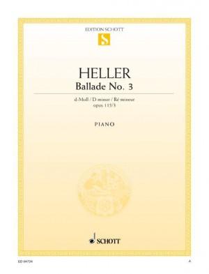 Heller, S: Ballade No. 3 D minor op. 115