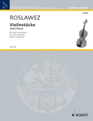 Roslavets, N A: Violin Pieces Band II