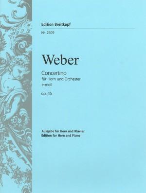 Weber: Concertino e-moll op. 45
