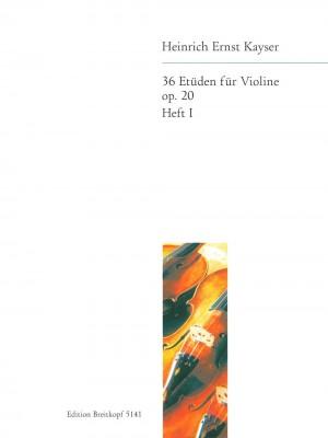 Kayser: 36 Etüden op. 20, Heft 1