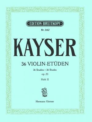 Kayser: 36 Etüden op. 20, Heft 2