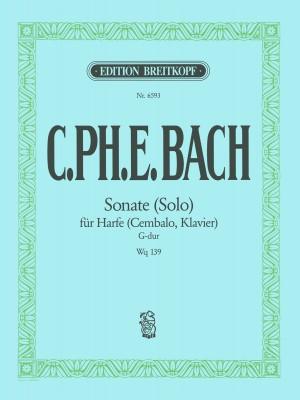 Bach, CPE: Sonate (Solo) G-dur Wotq 139