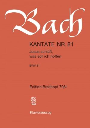 Bach, J S: Jesus schläft, was soll ich hoffen BWV 81