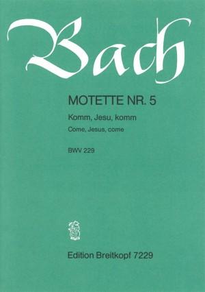 Bach, J S: Come, Jesus, come BWV 229  BWV 229