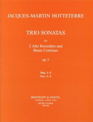 Hotteterre: Triosonaten op. 3/1-3